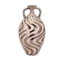 Leza Large Swirl Earthenware Vase