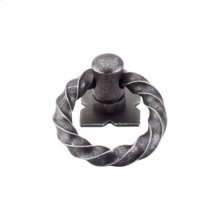 Twist Ring 1 3/8 Inch w/Backplate - Pewter