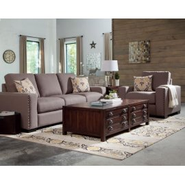 Rosanna Grey Three-piece Living Room Set
