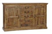 Bengal Manor Mango Wood 5 Drawer 2 Door Sideboard Product Image