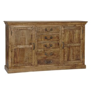 CRESTVIEW COLLECTIONSBengal Manor Mango Wood 5 Drawer 2 Door Sideboard