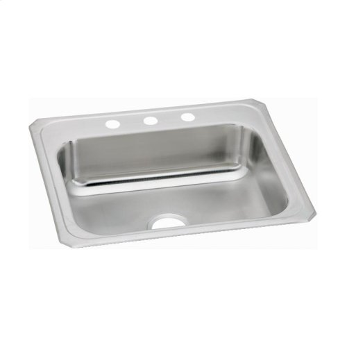 "Elkay Celebrity Stainless Steel 25"" x 21-1/4"" x 6-7/8"", Single Bowl Drop-in Sink"