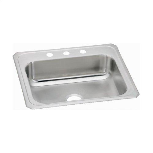 """Elkay Celebrity Stainless Steel 25"""" x 21-1/4"""" x 6-7/8"""", Single Bowl Drop-in Sink"""