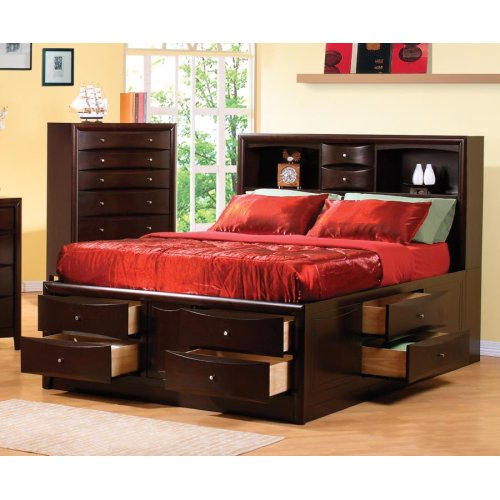 Eastern King Bed Deep Cappuccino