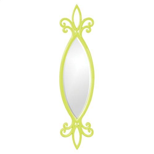 Hillary Mirror - Glossy Green