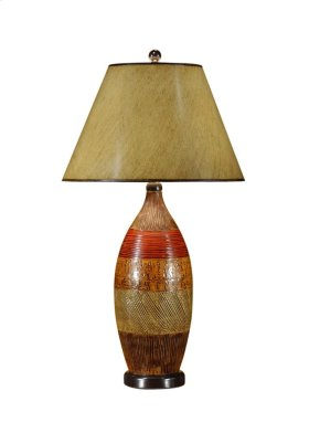 Textured Bottle Lamp