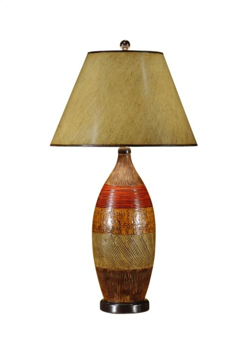 Textured Bottle Lamp
