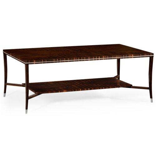 Macassar Ebony Coffee Table with White Brass Detail