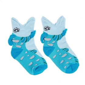 Fish Big Mouth Socks - Youth Shoe Size 8-13
