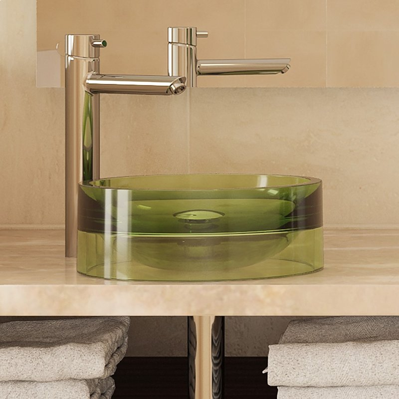 2806ABS in Absinthe by Decolav in Cincinnati, OH - Lana Round Above-counter Bathroom Sink - Absinthe