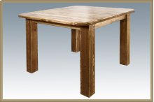 Homestead Square 4 Post Dining Table - Stained and Lacquered