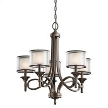 Lacey Collection Lacey 5 Light Chandelier - Mission Bronze