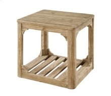 Emerald Home Barnwood End Table W/bottom Slat Shelf-caramel T121-01