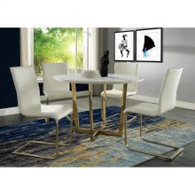 Maxim White Marble Dining Table (Top)-TOP