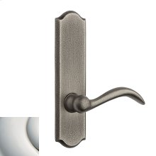 Polished Nickel with Lifetime Finish Rustic L028 Lever Screen Door
