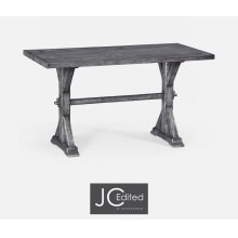 "54"" Solid Antique Dark Grey Dining Table"