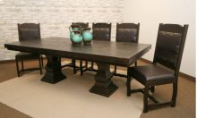 Terra Extra Dark 6' Pedestal Table