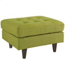 Empress Upholstered Fabric Ottoman in Wheatgrass