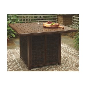 Ashley Furniture Square Bar Table W/fire Pit