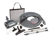 Combination carpet & bare floor electric direct connect attachment set