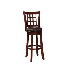 Traditional Cappuccino Swivel Bar Stool