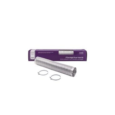 Smart Choice 8' Long 4'' Diameter Semi Rigid Dryer Vent Installation Kit with Elbow