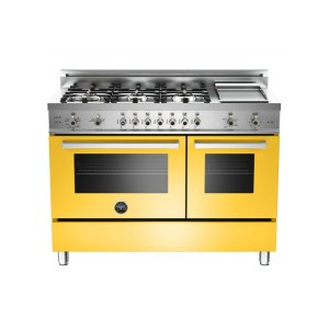 48 6-Burner + Griddle, Gas Double Oven Yellow - YELLOW