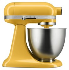 Exclusive Artisan® Mini 3.5 Quart Tilt-Head Stand Mixer + Fresh Prep Slicer/Shredder Attachment - Orange Sorbet