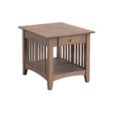 Mission End Table Large
