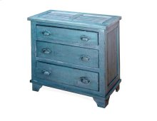 Industrial Chest - Denim Blue Finish
