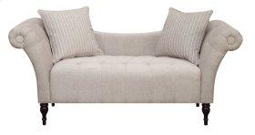 Emerald Home Lucille Settee W/2 Accent Pillows Linen U3803-55-05