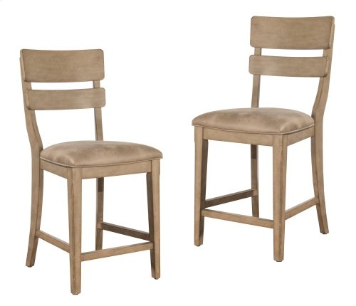 Leclair Non-swivel Counter Height Stool - Set of 2