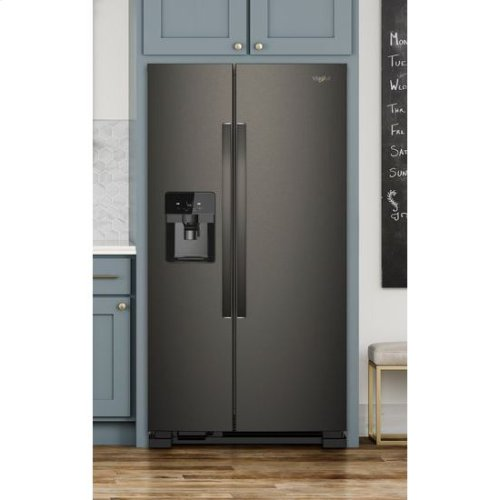 Whirlpool® 36-inch Wide Side-by-Side Refrigerator - 25 cu. ft. - Print Resist Blk Stnlss ***OPEN BOX ITEM***
