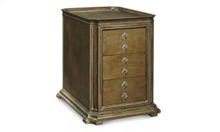 Continental Storage End Table - Crackle Bronze