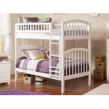 Richland Bunk Bed Twin over Twin in White