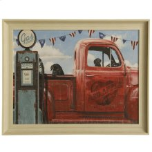 Let's Go For A Ride I  Made in USA  Vintage Wall Art  Textured Framed Print