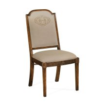 Upholstered Dining Chair with Gold Embroidery (Side)