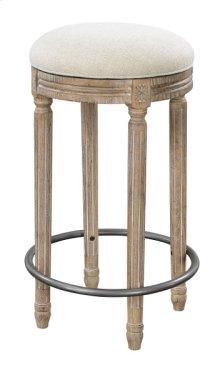 Upholstered 30'' Barstool #anna Yt-white Linen
