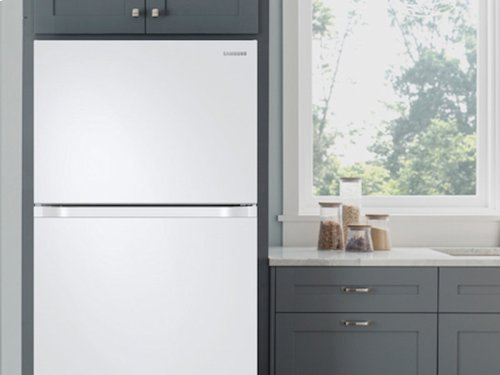 RED HOT BUY-BE HAPPY! 21 cu. ft. Capacity Top Freezer Refrigerator with FlexZone and Automatic Ice Maker