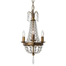 Mini Paris Chandelier With Bright Crystals