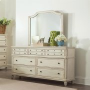 Huntleigh - Landscape Mirror - Vintage White Finish Product Image