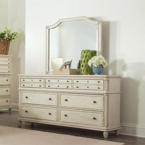 Huntleigh Seven Drawer Dresser Vintage White Finish
