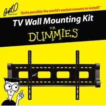 Low profile fixed or 5 degree tilting mount for most* 40 60 TVs including For Dummies installation guide and For Dummies step-by-step DVD video.