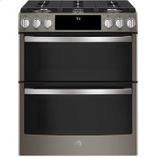 "30"" Smart Slide-In Front-Control Gas Double Oven Convection Range"