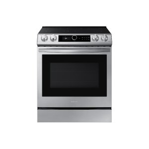 Samsung Appliances6.3 cu. ft. Front Control Slide-in Electric Range with Smart Dial, Air Fry & Wi-Fi in Stainless Steel
