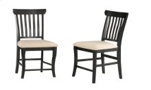 Venetian Dining Chairs Set of 2 with Oatmeal Cushion in Espresso
