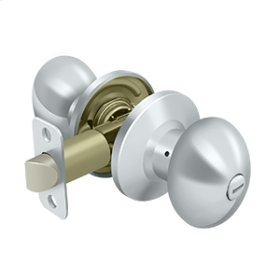Egg Knob Privacy - Polished Chrome