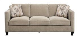 Emerald Home Focus U4286m-00-29 Sofa W/2 Accent Pillows Granite U4286m-00-29