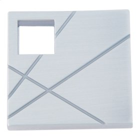 Modernist Right Square Knob 1 1/2 Inch - Brushed Nickel