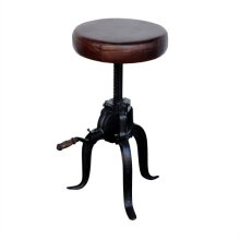 Height Adjustable Faux Leather Stool